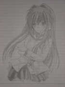 藤林杏をシャーペンで描いてみた