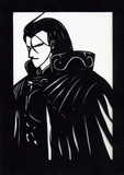 切り絵 黒衣の騎士 アシュラム