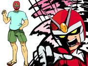 描きたいものをかく【赤い英雄】