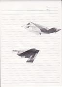 絵の練習でステルス爆撃機