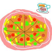 ピザと珈琲