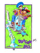 【手描き】鳥山明氏の一番好きな絵を描いてみた