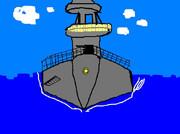 戦艦長門を描こうとしたが・・・艦橋が全部入らない