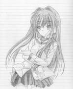 藤林杏をシャーペンで描いてみた 修正版