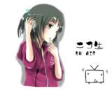 【アニメーションGIF】とある歌姫様のサムネ描かせて頂きました。