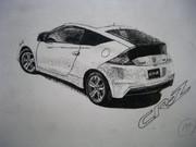 CR-Zを点描画で描いてみた。