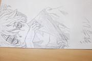 鏡音レンをフレンドが描いてくれたw