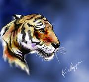 色々トラぶってる俺がトラを描いてみた。