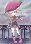 傘を持ってきたよ~♪
