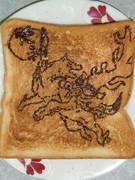 大神のアマ公を食パンに描いてみた