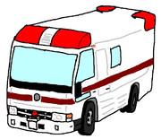 中坊がペイントで救急車かいてみた