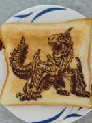 ティガレックスを食パンに描いてみた