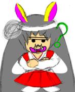【金澤佳雅 イラスト】 狐巫女 【バカボンのパパな野田】