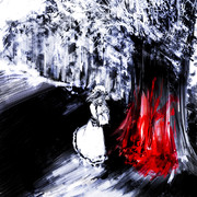 桜の木下で