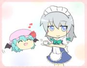「お嬢様、お茶の準備ができました」「うー☆」