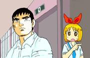 安中さんと角松先生「中之条、今行くぞ!」「先生、こっちです!」