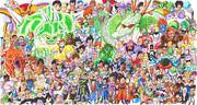 【全種類ラクガキ】ドラゴンボールキャラ全員描くよ!Z編【完成】