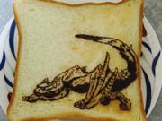 ナルガクルガを食パンに描いてみた