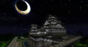 *MineCraft Diorama WallPaper* 白月城 ~月夜~