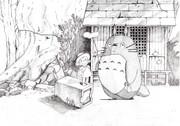 今はなき友人の描いたトトロ