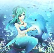 人魚と子イルカ