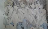 とある画像から5人を描いてみた。