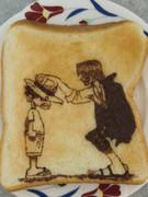 ワンピース名場面を食パンに描いてみた