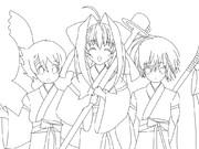 朝倉音姫とオリキャラのコラボ