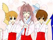 朝倉音姫とオリキャラのコラボ(色をつけてみた)