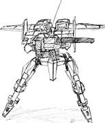 十二式装甲歩行戦闘車 120㍉滑腔砲
