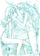 【ラフ】アリス&魔理沙「ふたりっきり」