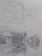 エルフの剣士を描いてみた(見づらくてゴメンねver)