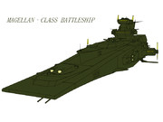 MAGELLAN マゼラン級戦艦(艦隊旗艦色緑カラー)