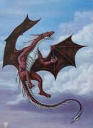 油絵でレッドドラゴン描いてみた
