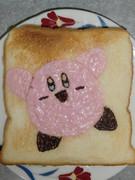 カービィを食パンに描いてみた