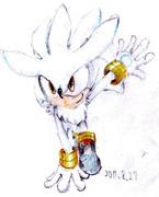 ソニックをいっつも描いてたけどシルバーも描いてみた。