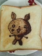 ピカチュウ?を食パンに描いてみた