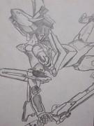 エヴァンゲリオン2号機を描いてみました!