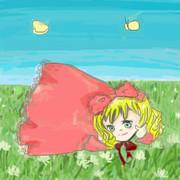 草むらの天使な雛苺