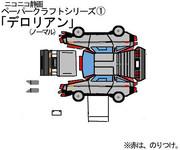 ペーパークラフトシリーズ①「デロリアン」(ノーマル)