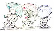 傘、傘、傘。