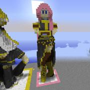 Minecraft で 立体 巡音ルカ【作ったもの】