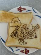 大神の断神を食パンに描いてみた