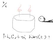 自分の誕生日のときにうpした問題イラスト(・ω・)