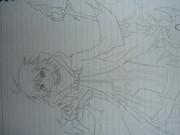 ルーズリーフで闇霊使いダルク描いてみた