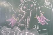 【文化祭】射的の的描いて見た【黒板】