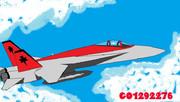 ペイントでF/A-18戦闘機
