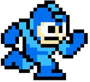 【ペイント】初代ロックマン(走る)