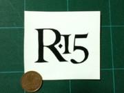 R-15のロゴ カッティングシートで切ってみた