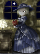 物語を読む少女